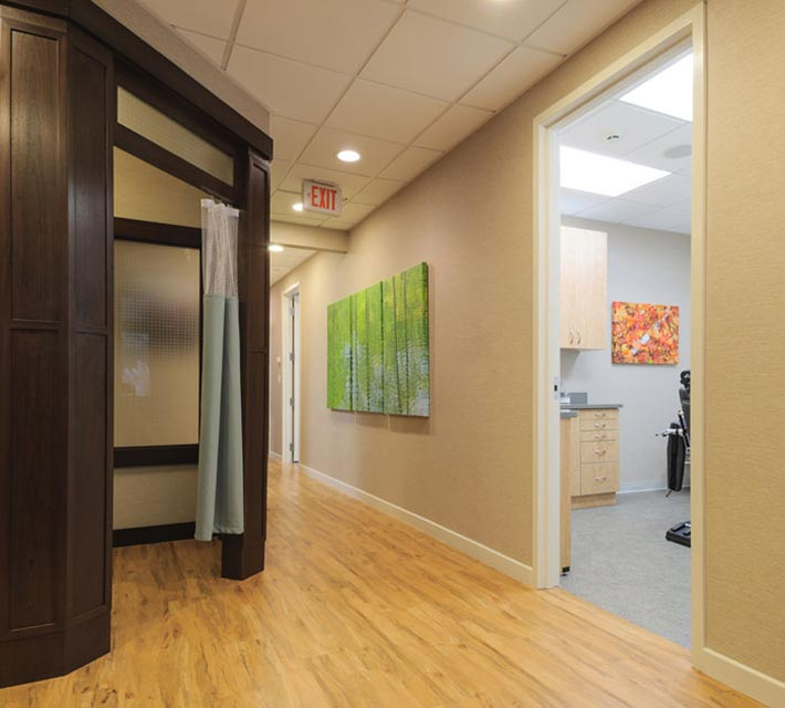 Hallway and operatory at New York Oral, Maxillofacial, and Implant Surgery