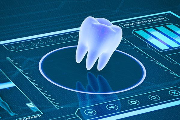 Futuristic image of a tooth